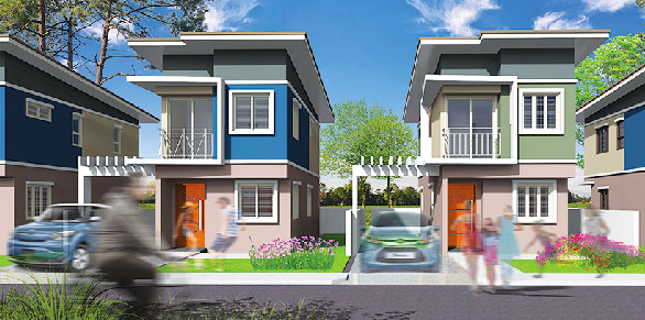 Architect's perspective of the Leyenda model house being offered at the Active Group'sTown & Country San Pablo project in Laguna.